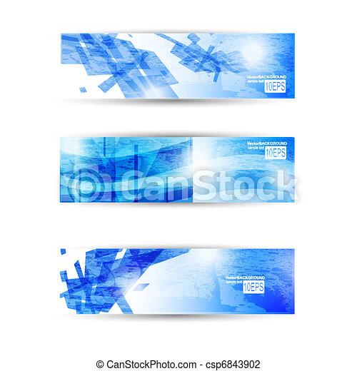 Un conjunto abstracto de estandartes modernos para pilotos de negocios o sitios web - csp6843902