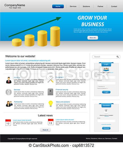 La página web de negocios - csp6813572