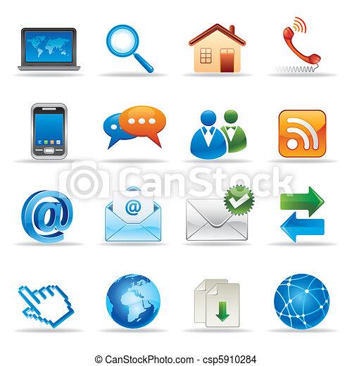 lnternet y los iconos de Internet - csp5910284