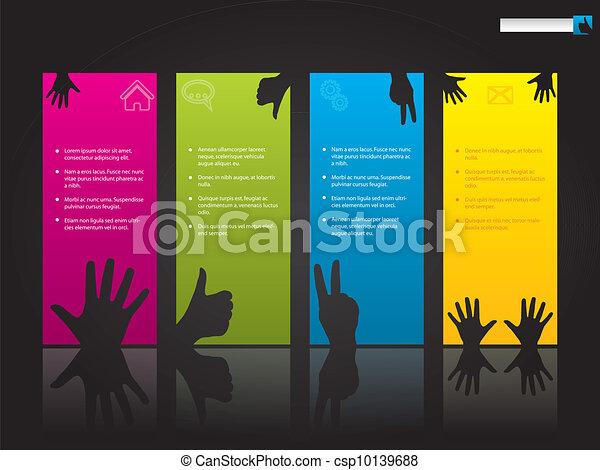 Temporada Web con símbolos de mano - csp10139688