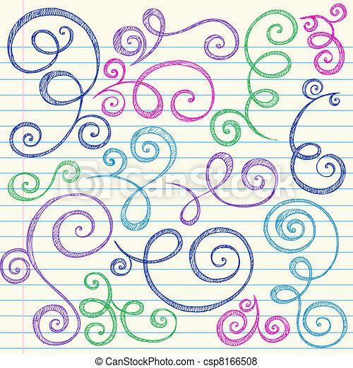 Sketchy doodle arremolina el vector - csp8166508