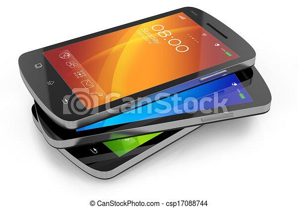 Grupo de smartph de pantalla táctil moderna - csp17088744