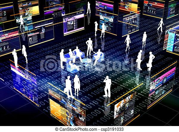 La red social está en línea - csp3191033