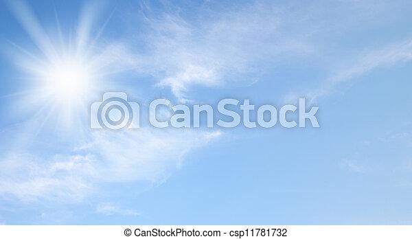 Cielo y sol - csp11781732
