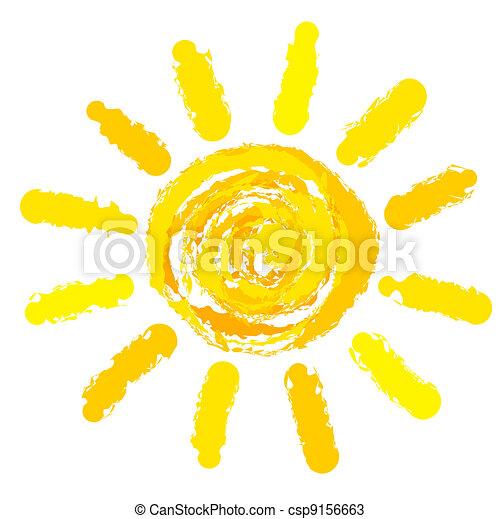 Sol dibujado - csp9156663