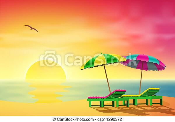 Sol en la playa - csp11290372