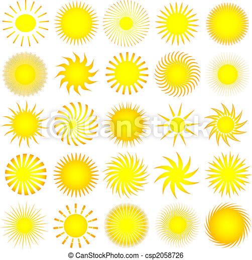 iconos solares - csp2058726