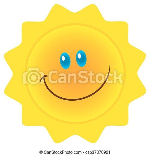 Personaje del sol sonriente - csp37370921