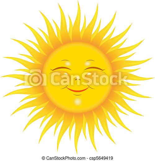 Sol sonriente - csp5649419