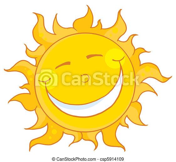 Sol sonriendo - csp5914109