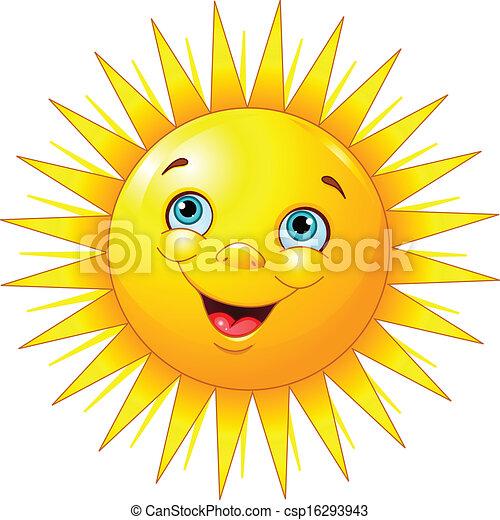 Sol sonriente - csp16293943
