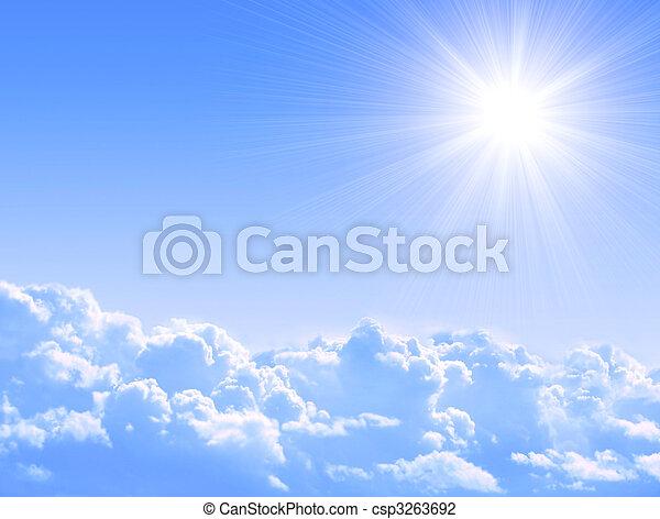 Sol y nubes - csp3263692