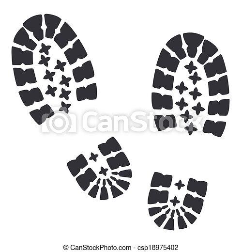 Soldados con botas militares - csp18975402