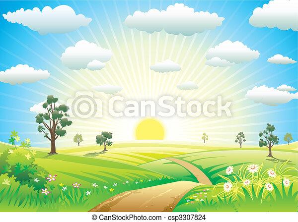 Soleado prado - csp3307824