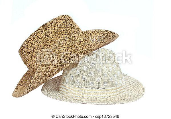 Sombrero de fondo blanco. - csp13723548