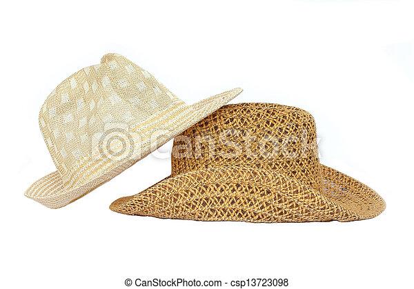 Sombrero de fondo blanco. - csp13723098