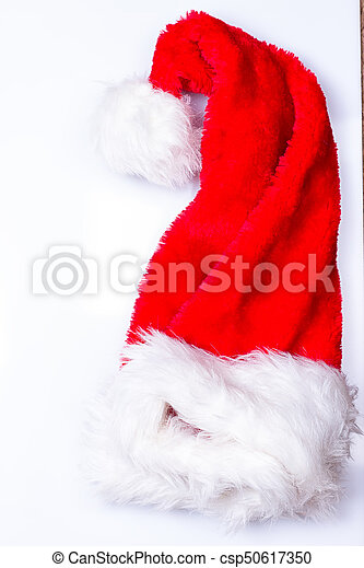 Sombrero de Papá Noel de Navidad - csp50617350