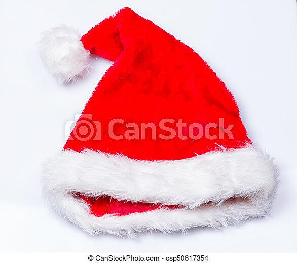 Sombrero de Papá Noel de Navidad - csp50617354