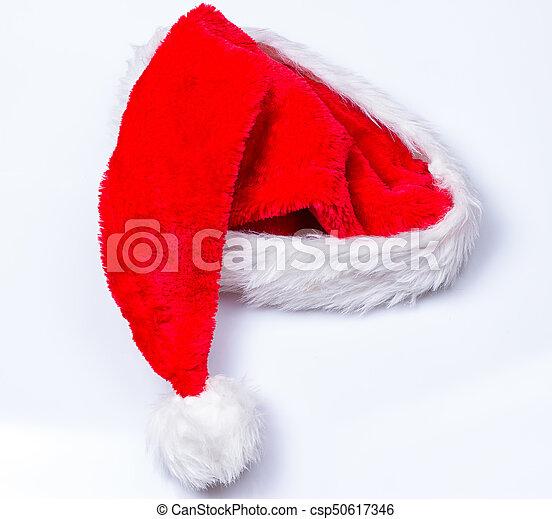 Sombrero de Papá Noel de Navidad - csp50617346