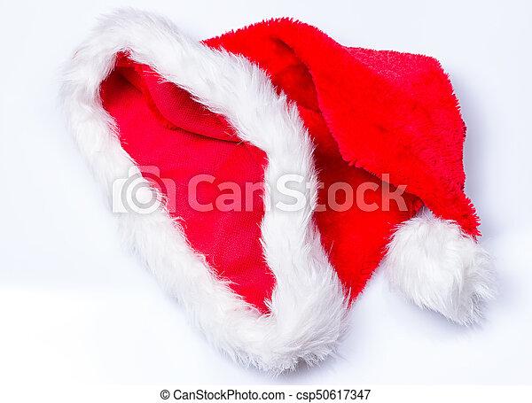 Sombrero de Papá Noel de Navidad - csp50617347