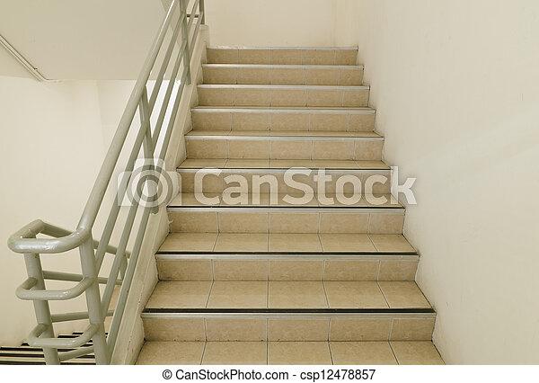Escalera y salida de emergencia - csp12478857