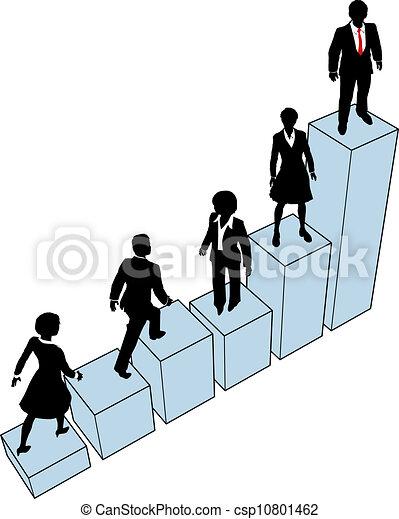 La gente de negocios sube a la lista - csp10801462