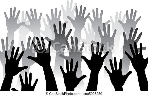 Levanta la mano - csp5025259