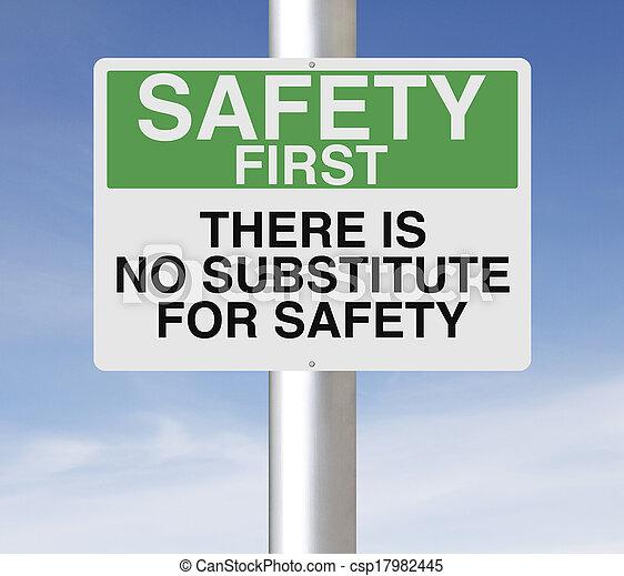 No hay sustituto para la seguridad - csp17982445
