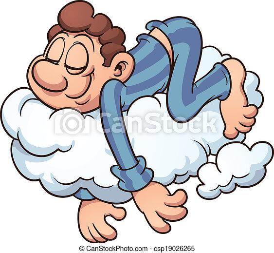 Durmiendo en una nube - csp19026265
