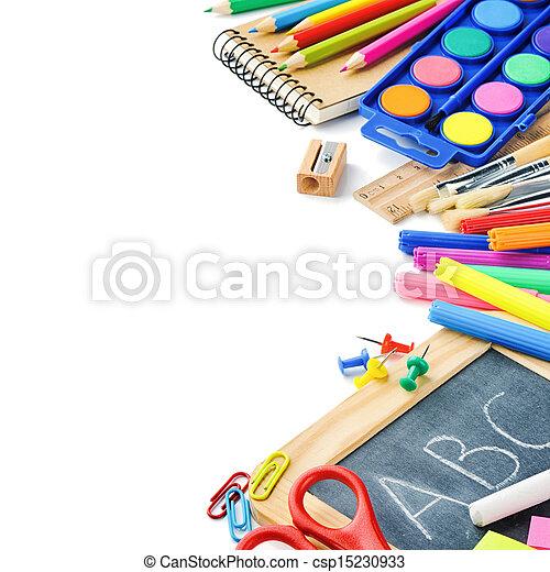 Suministros escolares de color - csp15230933