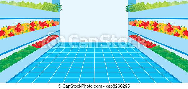 Supermercado. Un número vegetal - csp8266295