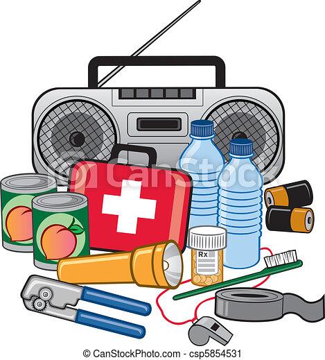 Equipo de preparación de supervivencia de emergencia - csp5854531