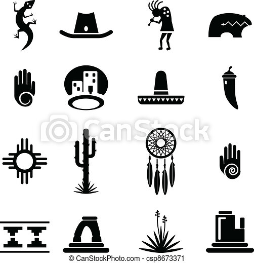 iconos del sudoeste listos - csp8673371