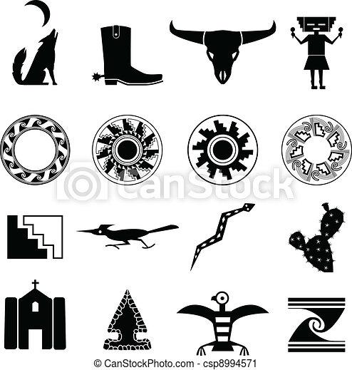 iconos surestes del desierto - csp8994571