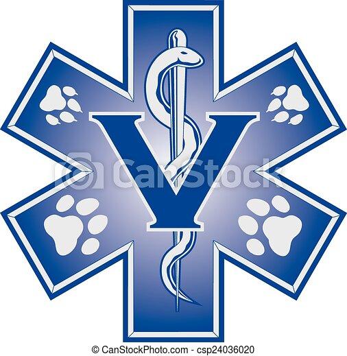 Simbología médica de emergencia veterinaria - csp24036020