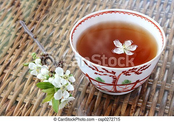 Té y flores - csp0272715