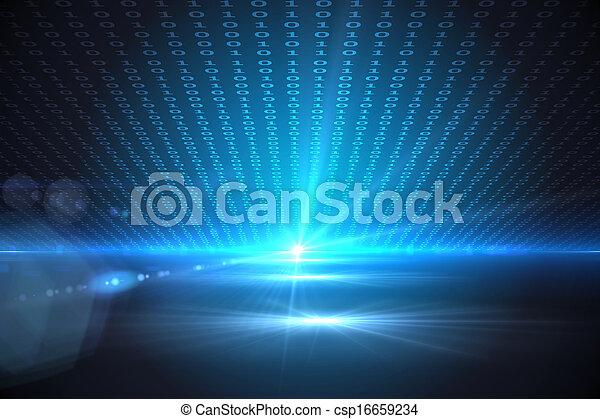 Un fondo técnico con código binario - csp16659234