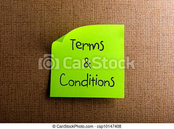 Condiciones y condiciones - csp10147408
