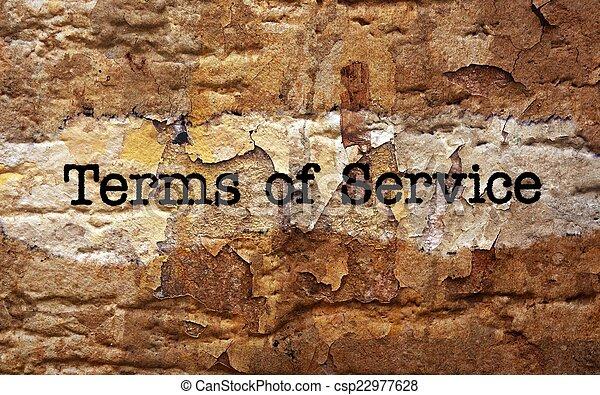 Las condiciones de servicio - csp22977628