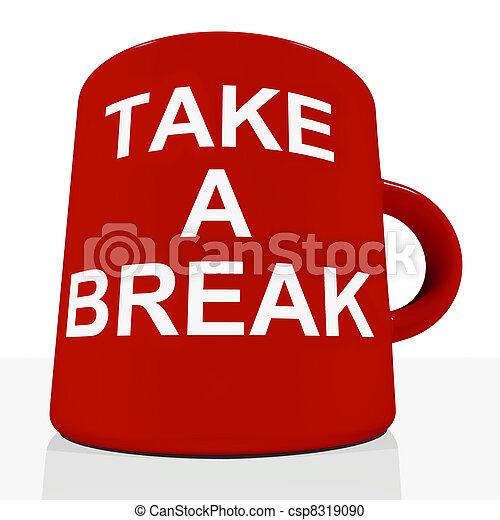 Tómate un descanso mostrando relajación y cansancio - csp8319090