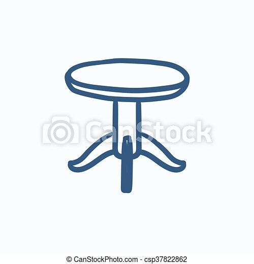 El icono de la mesa redonda. - csp37822862
