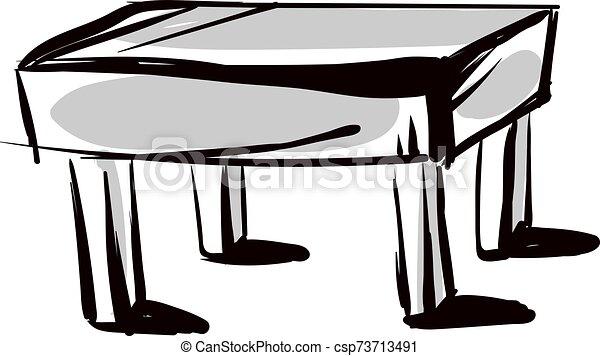 tabla, dibujo, blanco, fondo., vector, ilustración - csp73713491