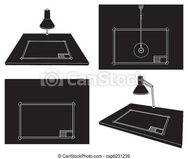 Mesa de dibujo - csp6231239