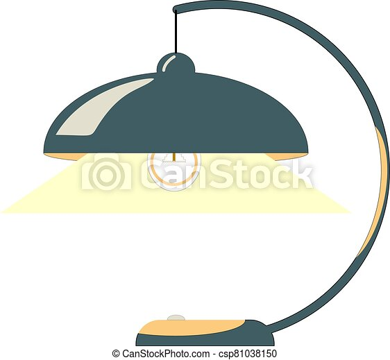 tabla, dibujo, lámpara, vector - csp81038150