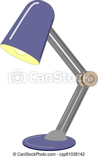 tabla, dibujo, lámpara, vector - csp81038142