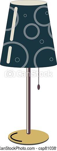 tabla, dibujo, lámpara, vector - csp81038144