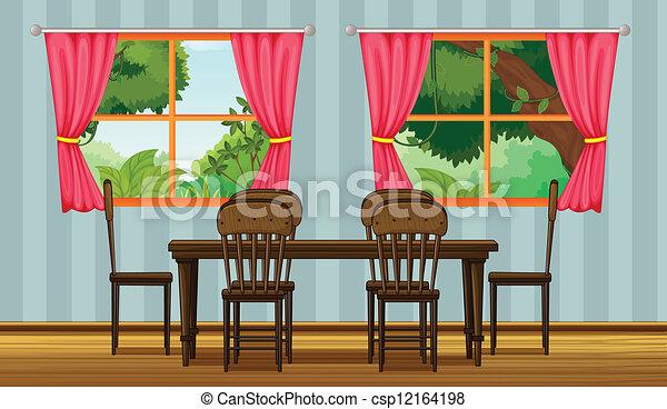 Una mesa de cena - csp12164198