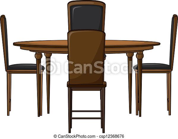 Una mesa de cena - csp12368676