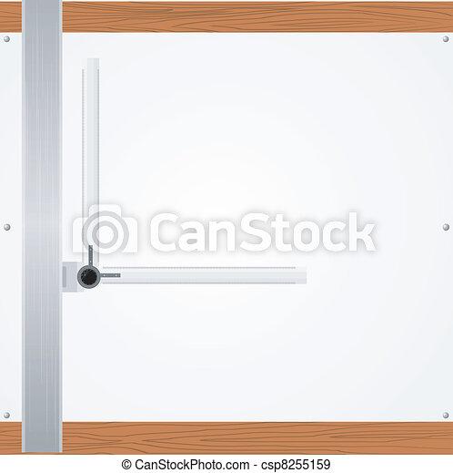 La mesa de dibujo del vector - csp8255159