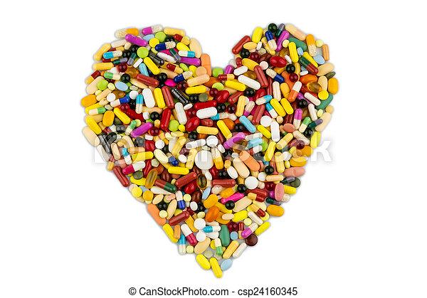 Tablas coloridas en forma de corazón - csp24160345